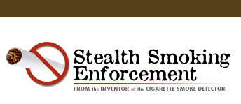 bathroom cigarette smoke detector and stealth smoking enforcement for bathroom
